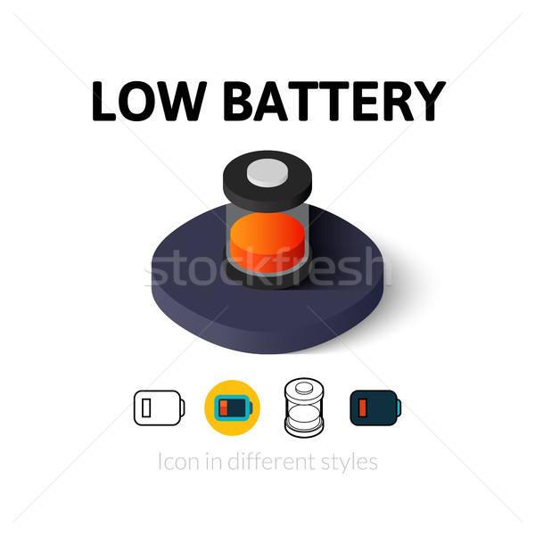 Low battery icon in different style Stock photo © sidmay