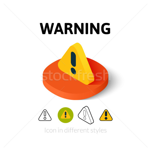 Warning icon in different style Stock photo © sidmay