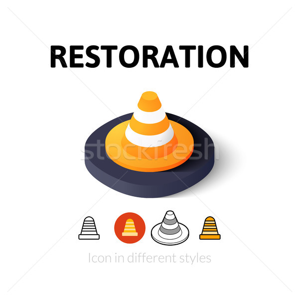 Restoration icon in different style Stock photo © sidmay