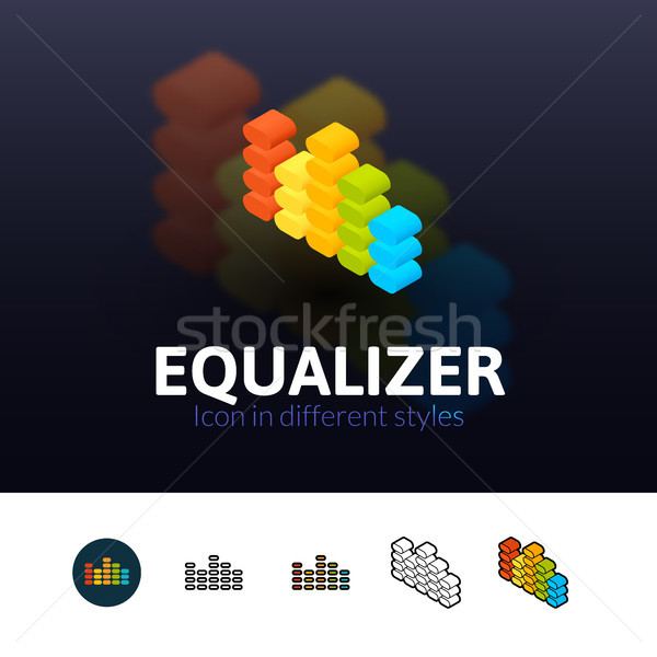 Equalizer icon in different style Stock photo © sidmay