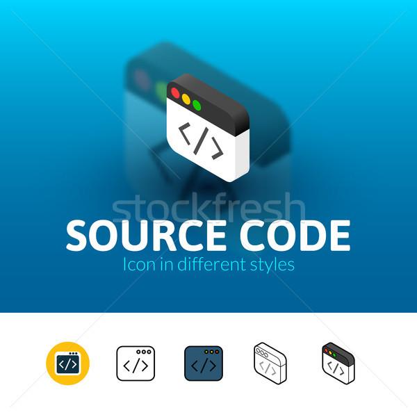 источник Код икона различный стиль цвета Сток-фото © sidmay