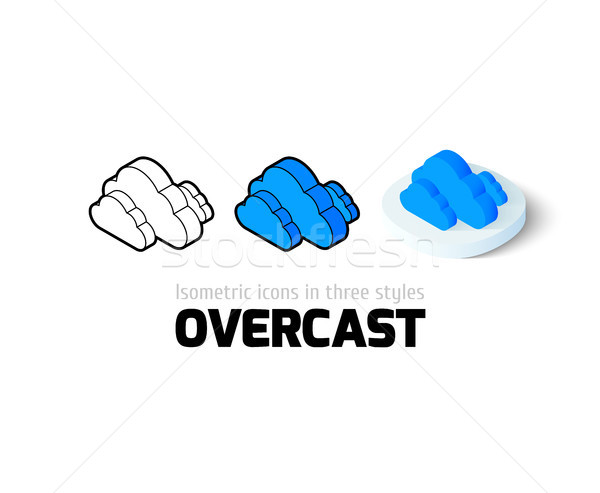 Overcast icon in different style Stock photo © sidmay