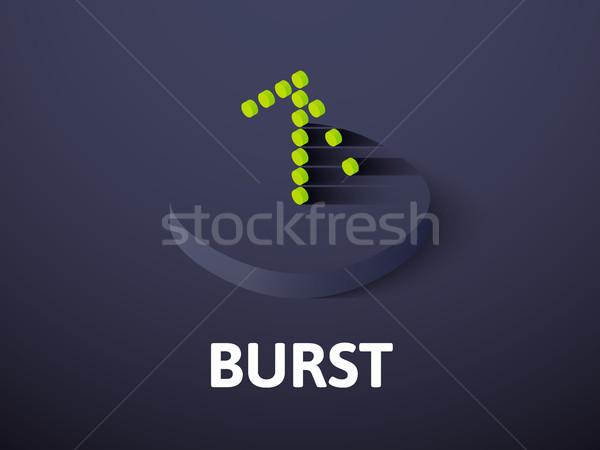Burst isometric icon, isolated on color background Stock photo © sidmay