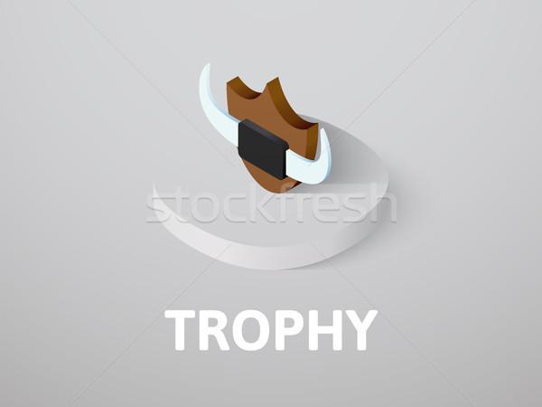 Trofeo isometrica icona isolato colore vettore Foto d'archivio © sidmay