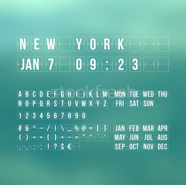 カウントダウン タイマー 日付 カレンダー スコアボード ストックフォト © sidmay
