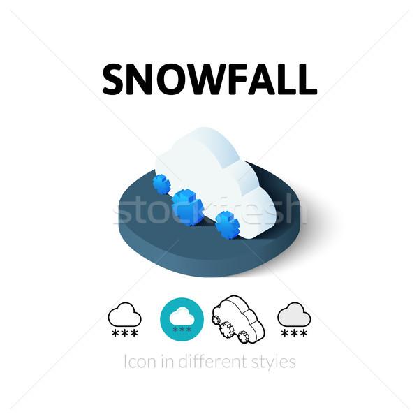 Queda de neve ícone diferente estilo vetor símbolo Foto stock © sidmay