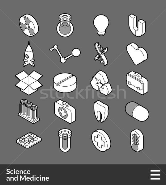 Izometrik simgeler 3D piktogramlar Stok fotoğraf © sidmay