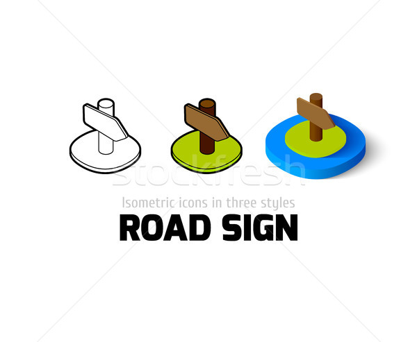 Road sign icon in different style Stock photo © sidmay