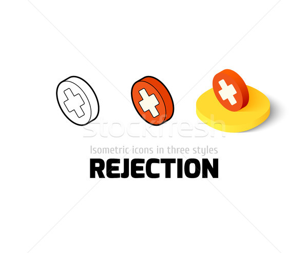 Stock photo: Rejection icon in different style