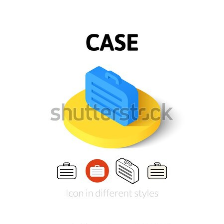 Case isometric icon, isolated on color background Stock photo © sidmay