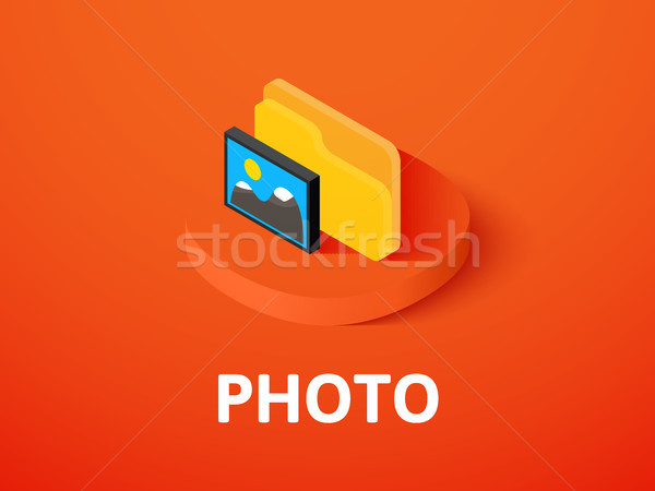 Photo isométrique icône isolé couleur vecteur Photo stock © sidmay