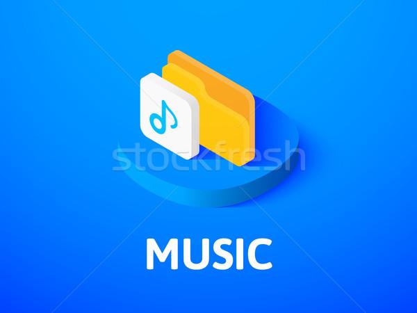 Musik Symbol isoliert Farbe Vektor Stock foto © sidmay