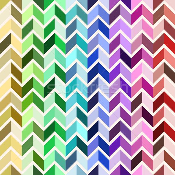 Bezszwowy geometryczny wzór kolorowy mozaiki tęczy kolor Zdjęcia stock © sidmay