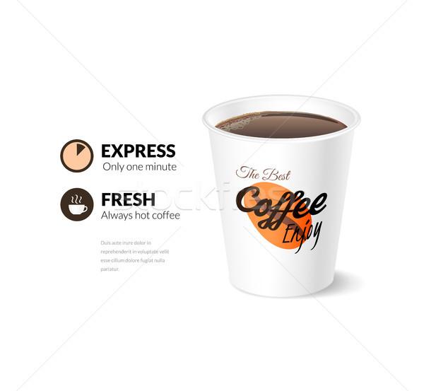 Сток-фото: карт · шаблон · чашку · кофе · меню · текстуры