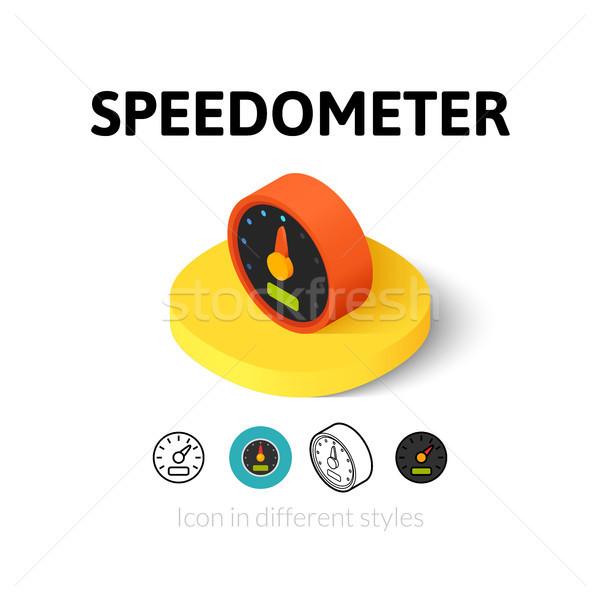 Tachimetro icona diverso stile vettore simbolo Foto d'archivio © sidmay