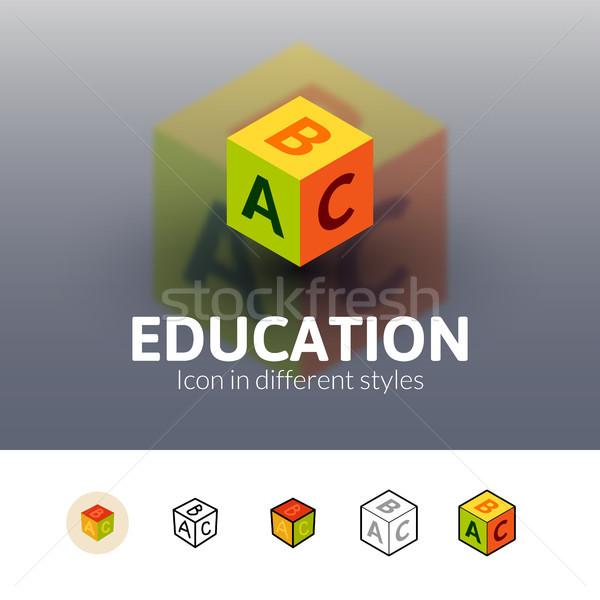 Education icon in different style Stock photo © sidmay