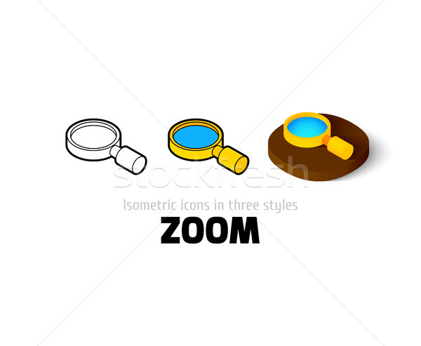 Zoom icon verschillend stijl vector symbool Stockfoto © sidmay