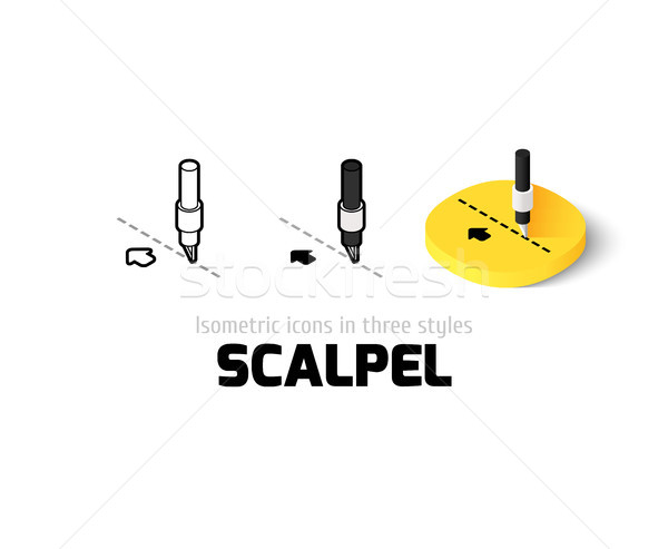 Scalpel icon in different style Stock photo © sidmay