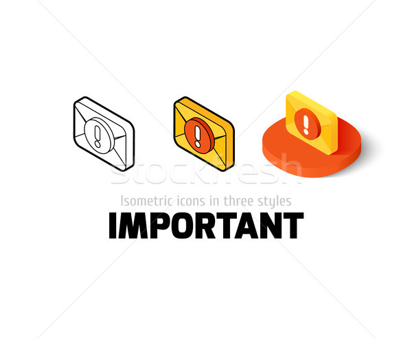 Important icon in different style Stock photo © sidmay