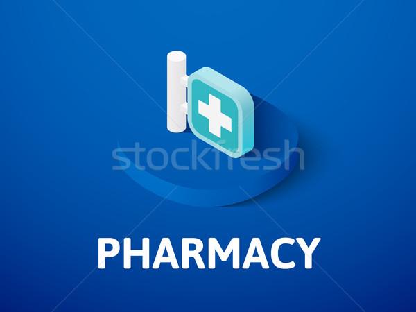 Apotheke Symbol isoliert Farbe Vektor Stock foto © sidmay