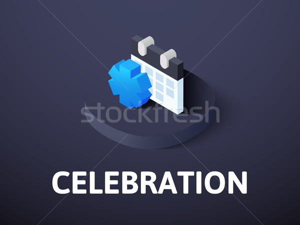 празднования изометрический икона изолированный цвета вектора Сток-фото © sidmay