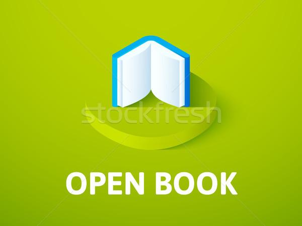 開いた本 アイソメトリック アイコン 孤立した 色 ベクトル ストックフォト © sidmay