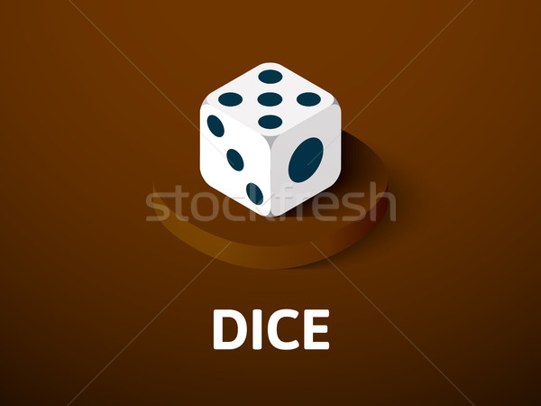 Dice isometric icon, isolated on color background Stock photo © sidmay