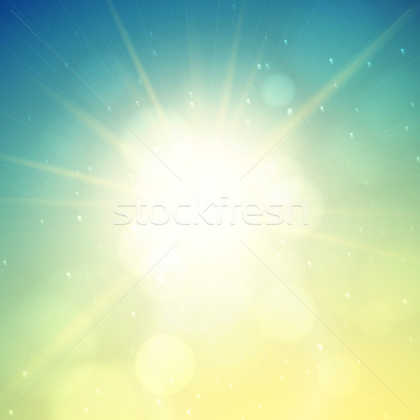 Yaz güneş yeşil gün batımı Stok fotoğraf © sidmay