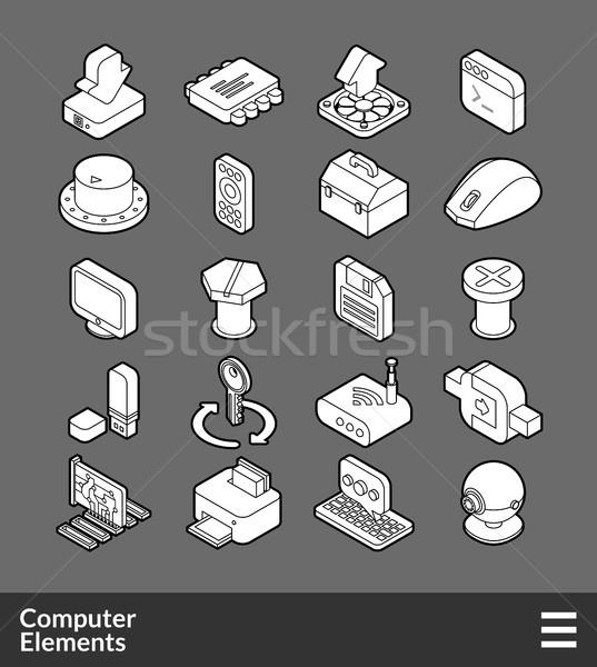Isométrica ícones 3D pictogramas Foto stock © sidmay