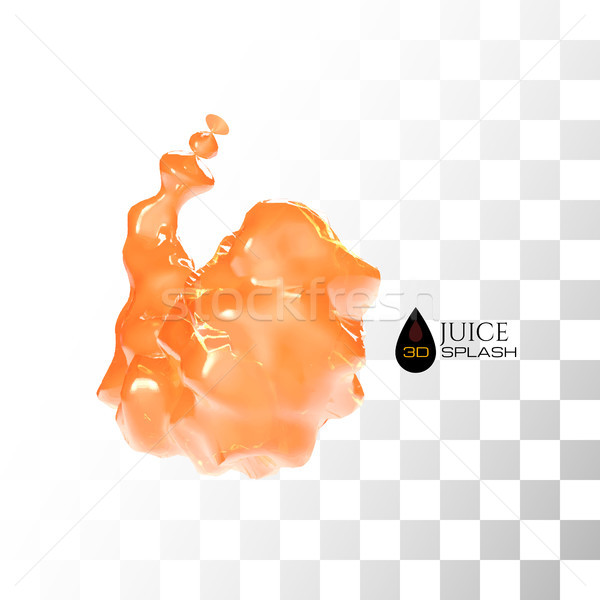 Orange 3D juice splash isolated on white Stock photo © sidmay