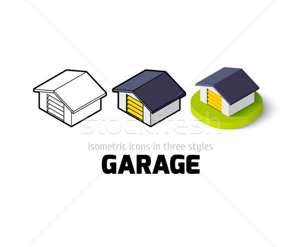 Garagem ícone diferente estilo vetor símbolo Foto stock © sidmay