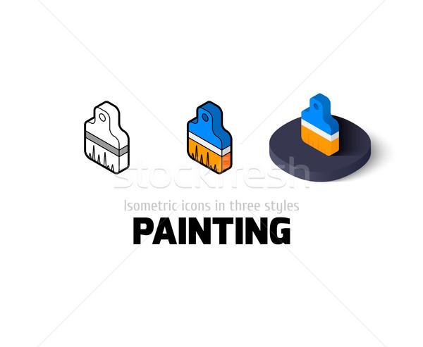 Pittura icona diverso stile vettore simbolo Foto d'archivio © sidmay