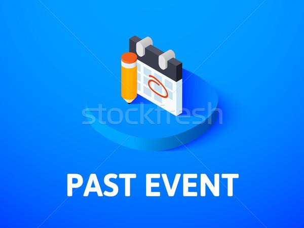 Múlt esemény izometrikus ikon izolált szín Stock fotó © sidmay