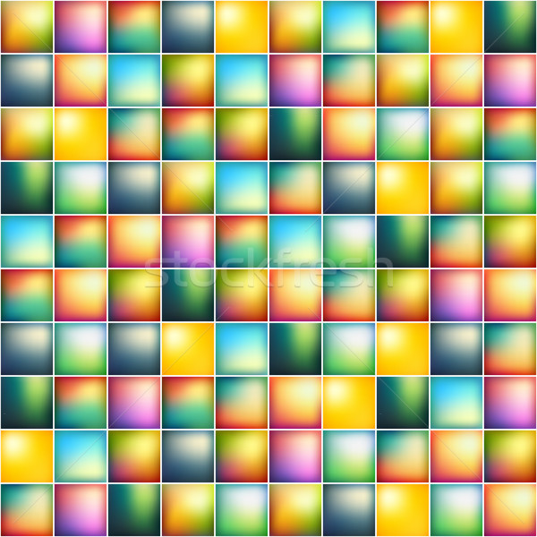 Glossy colorful mosaic square cells grid Stock photo © sidmay