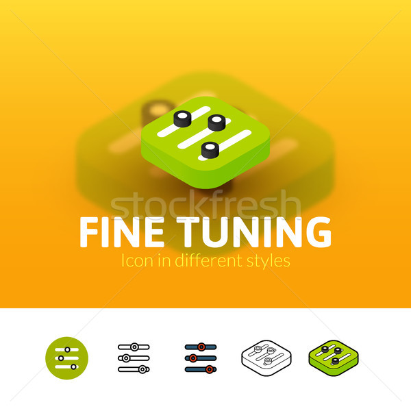 Fine tuning icon in different style Stock photo © sidmay