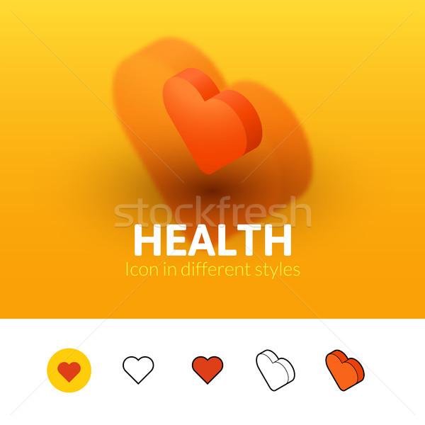 Gezondheid icon verschillend stijl kleur vector Stockfoto © sidmay