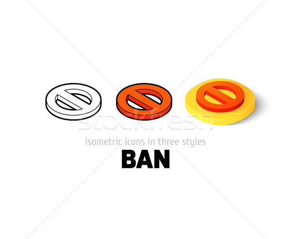 Ban icon in different style Stock photo © sidmay