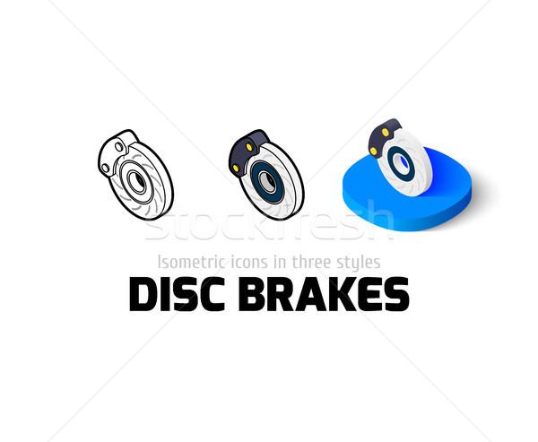 Disco icona diverso stile vettore simbolo Foto d'archivio © sidmay