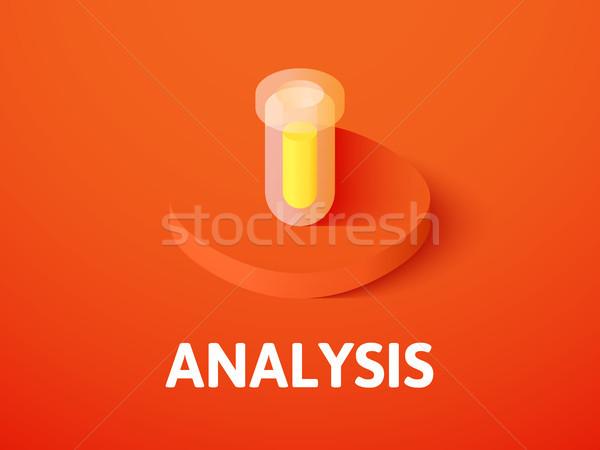 Analyse isometrische icon geïsoleerd kleur vector Stockfoto © sidmay