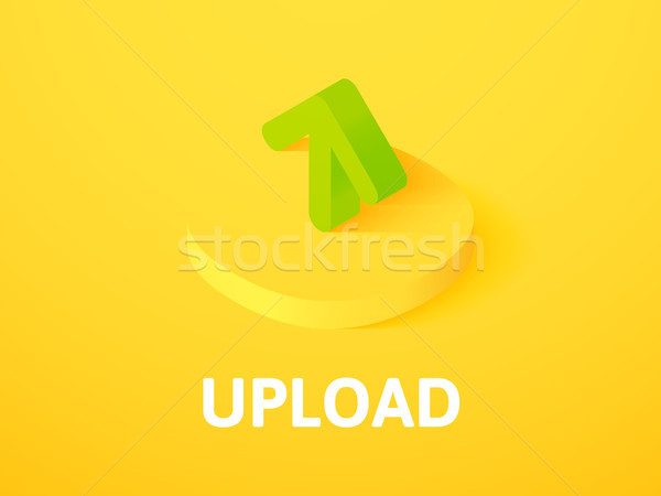 Upload isometric icon, isolated on color background Stock photo © sidmay
