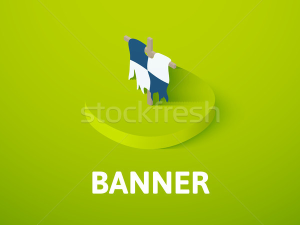 Banner isometric icon, isolated on color background Stock photo © sidmay