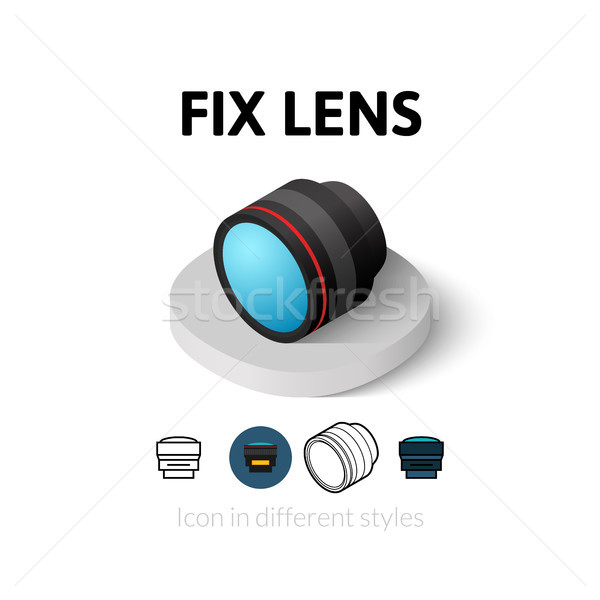Lens icon verschillend stijl vector symbool Stockfoto © sidmay