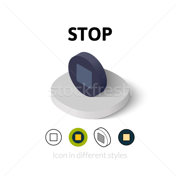 Stop icon in different style Stock photo © sidmay
