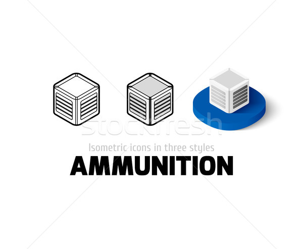 Ammunition icon in different style Stock photo © sidmay