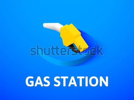 Broadcasting isometric icon, isolated on color background Stock photo © sidmay