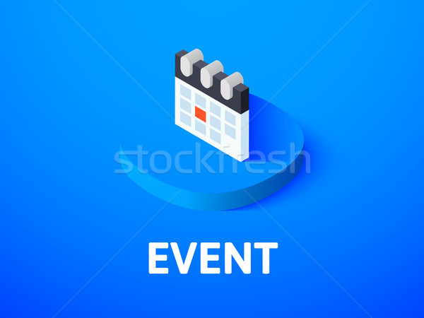Event isometric icon, isolated on color background Stock photo © sidmay