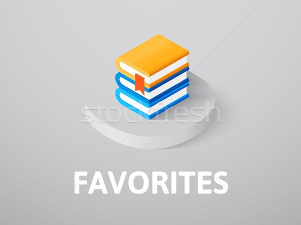 Ulubione izometryczny ikona odizolowany kolor wektora Zdjęcia stock © sidmay