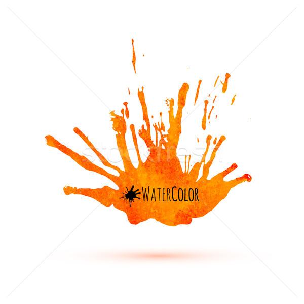 Orange watercolor isolated splash Stock photo © sidmay