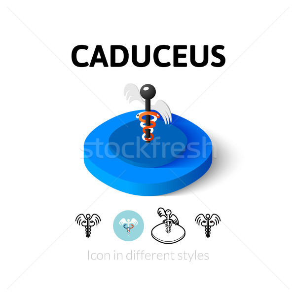 Caduceus icon in different style Stock photo © sidmay