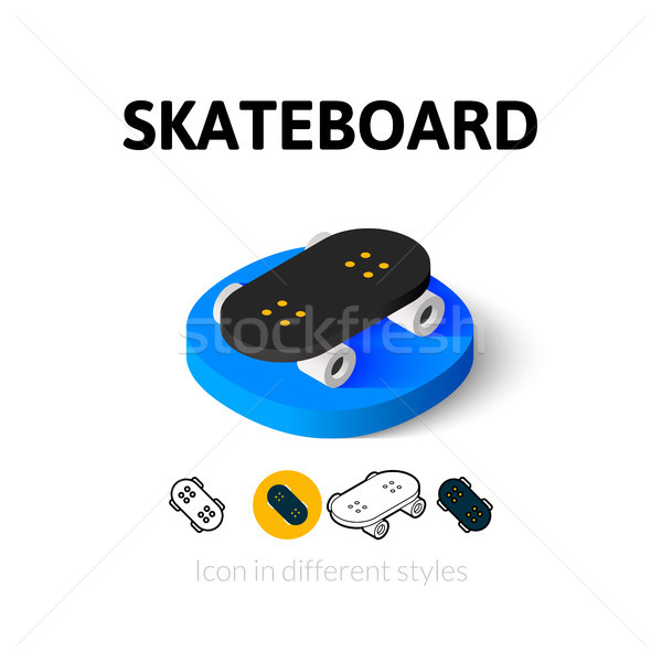 Skateboard icon in different style Stock photo © sidmay